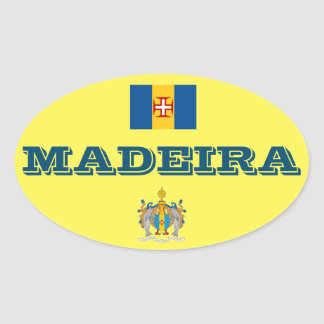 Madeira (Portugal) European Oval Style Sticker