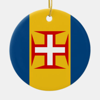Madeira (Portugal) Flag Ceramic Ornament