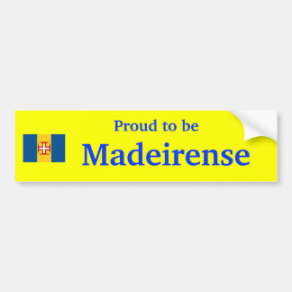 Madeira - Proud to be Madeirense sticker