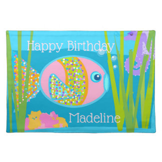 Madeline the Fish Cotton Placemat