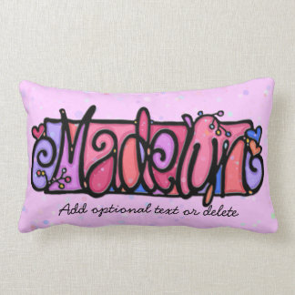 MADELYN custom painted name pillow girly artsy