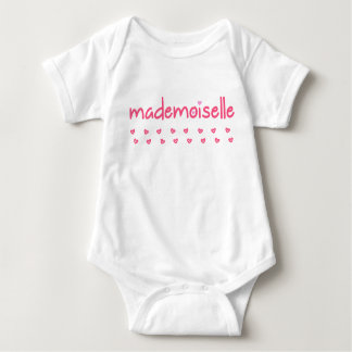 MADEMOISELLE - FUN TEXT - Baby Jersey Bodysuit