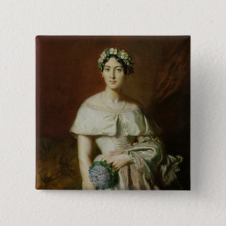 Mademoiselle Marie-Therese de Cabarrus, 1848 15 Cm Square Badge