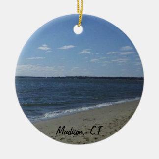 Madison CT Connecticut Hammonasset Beach Ceramic Ornament