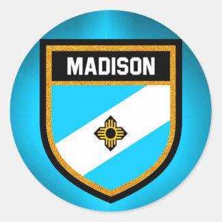 Madison Flag Classic Round Sticker