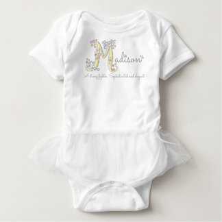 Madison girls M name meaning personalized apparel Baby Bodysuit