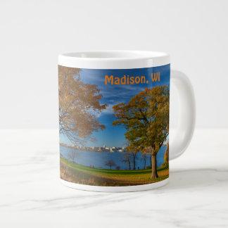 Madison skyline across lake Monona Large Coffee Mug