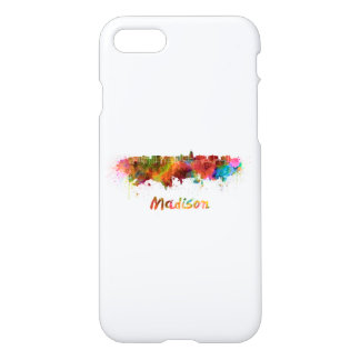 Madison skyline in watercolor iPhone 8/7 case