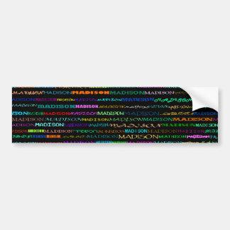 Madison Text Design I Bumper Sticker