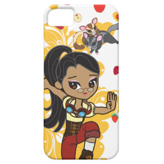 Madison the Steampunk Cartoon Girl & Sugar Gliders iPhone 5 Cases