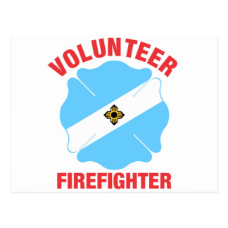 Madison, WI Flag Volunteer Firefighter Cross Postcard