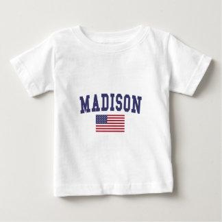Madison WI US Flag Baby T-Shirt