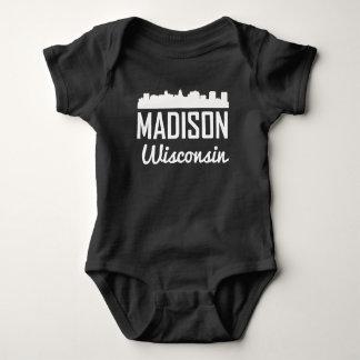 Madison Wisconsin Skyline Baby Bodysuit
