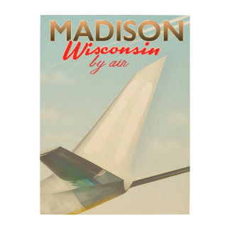 Madison Wisconsin USA Vintage flight poster
