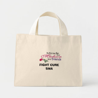 madisonandfriends, FIGHT CURE SMA Mini Tote Bag
