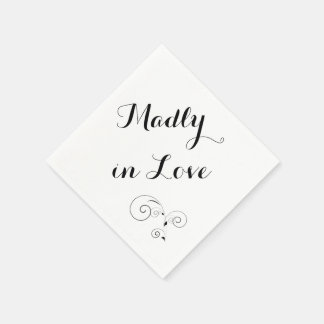 Madly in Love - White Napkin Disposable Napkins