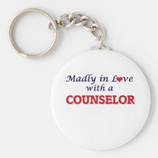 Madly in love with a Counselor Basic Round Button Key Ring