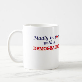 Madly in love with a Demographer Basic White Mug