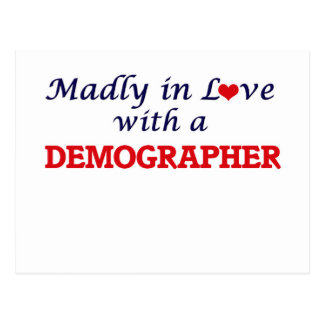 Madly in love with a Demographer Postcard