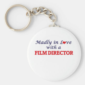 Madly in love with a Film Director Basic Round Button Key Ring
