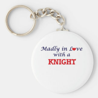 Madly in love with a Knight Basic Round Button Key Ring