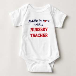 Madly in love with a Nursery Teacher Baby Bodysuit