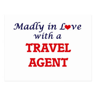 Madly in love with a Travel Agent Postcard
