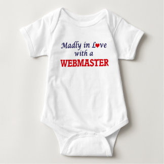Madly in love with a Webmaster Baby Bodysuit