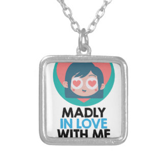 Madly In Love With Me Day - Thirteenth February Silver Plated Necklace