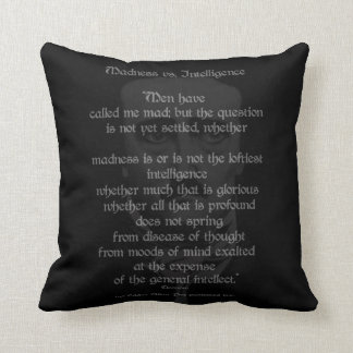 Madness Vs. Intelligence>>Poe Throw Pillow