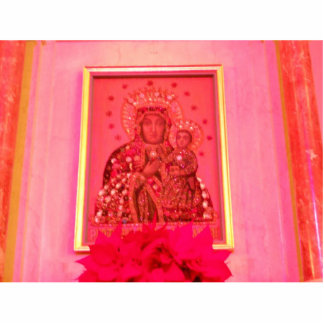 MADONA AND CHILD  IN PINK PHOTO CUTOUT