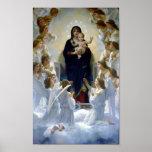 Madona Queen of Angels Bouguereau Regina Angelorum Posters