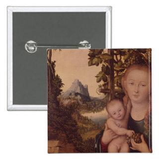 Madonna and Child 15 Cm Square Badge