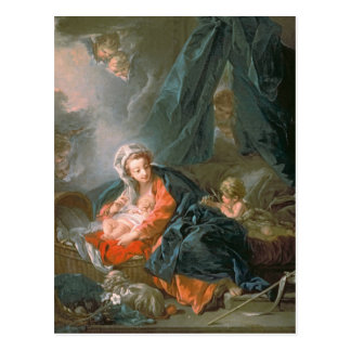 Madonna and Child, 18th century Postcard
