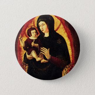 Madonna and Child 6 Cm Round Badge