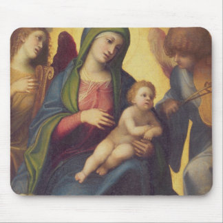 Madonna and Child and child in Glory, c.1520 (oil Mouse Pad
