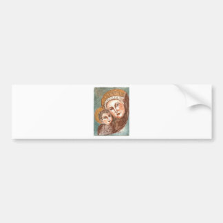 madonna and child bumper sticker