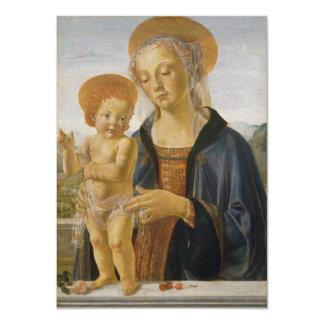 Madonna and Child by Andrea del Verrocchio 11 Cm X 16 Cm Invitation Card