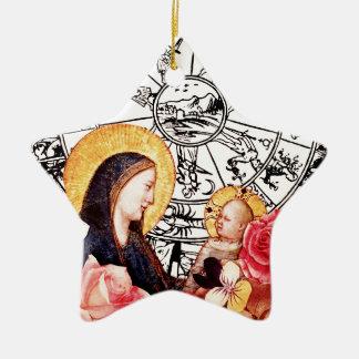 madonna and child ceramic ornament