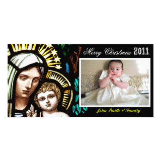 Madonna and Child Christmas Greetings Photo Cards