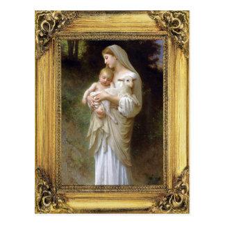 Madonna and Child Christmas Postcard