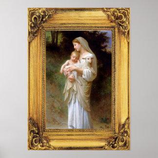 Madonna and Child Christmas Poster