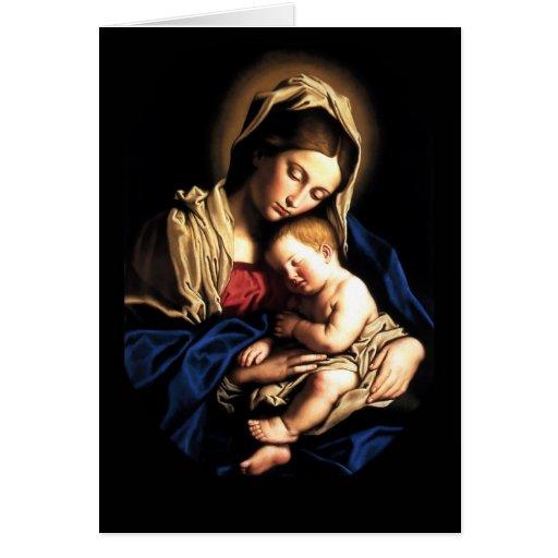 Madonna and Child Custom Card