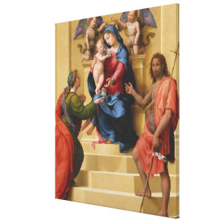 Madonna and Child Enthroned with Saints Mary Canvas Print