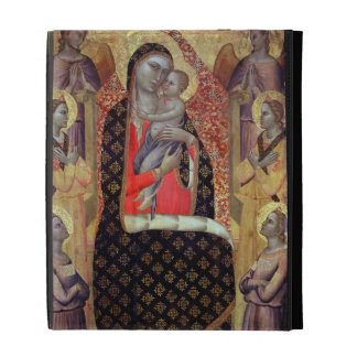Madonna and child enthroned with six angels (panel iPad folio cases
