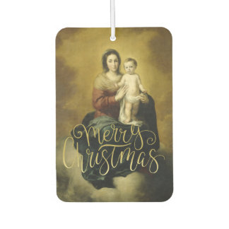 Madonna and Child, Fine Art Christmas Car Air Freshener