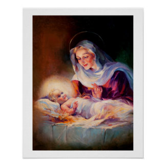 Madonna and Child. Fine Art Poster
