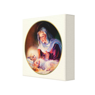 Madonna and Child. Fine Art Wrapped Canvas Stretched Canvas Prints