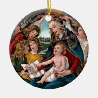 Madonna and Child: Florence, Italy Ceramic Ornament