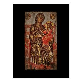 Madonna and Child Icon Postcard